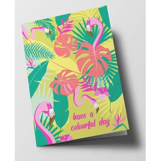 Folded Card - Have A Colourful Day