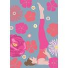 Postkarte - Yoga - salamba sarvangasana - shoulder stand