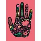 Postkarte - Asia Hand