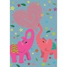 Postkarte - Love Elephants