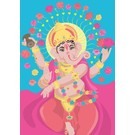 ha009 | happiness | Ganesha - postcard A6