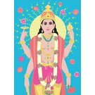 ha010 | happiness | Vishnu - Postkarte A6