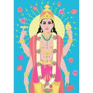 ha010 | happiness | Vishnu - postcard A6