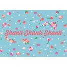 ha011 | happiness | Shanti Shanti Shanti - postcard A6