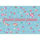 ha011 | happiness | shanti shanti shanti - Postkarte A6