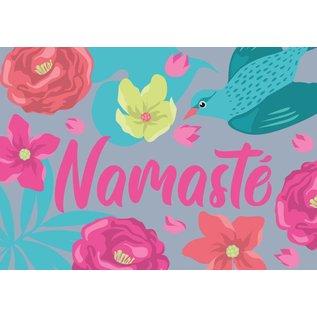 ha012   happiness   Namaste - postcard A6