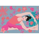 ha013 | happiness | Yoga - Parivritta Janu Shirshasana - Twisted Head-To-Knee Pose - postcard A6