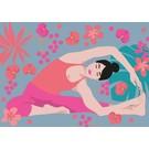 Post Card - Yoga - Parivritta Janu Shirshasana - Twisted Head-To-Knee Pose