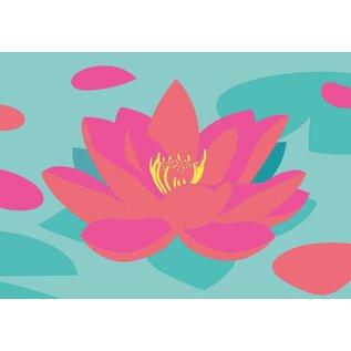 ha014 | happiness | Lotus Flower - postcard A6