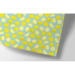cc720 | crissXcross | Zitronen - Geschenkpapier Bogen 50 x 70 cm