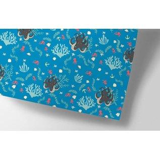 cc722 | crissXcross | Octopus - wrapping paper Bogen 50 x 70 cm