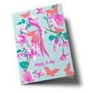 Folded Card - Happy B-Day Butterflies