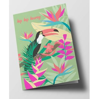 ha313 | happiness | Hip Hip Hooray - folding card