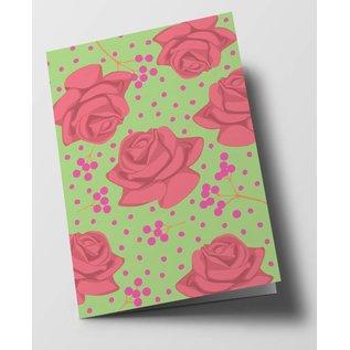 ha315   happiness   Orange Roses - folding card