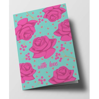 ha316 | happiness | Pink Roses - folding card