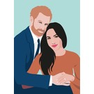 ng043 | pop art new generation | Prince Harry and Meghan - postcard A6