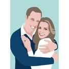 ng044   Postkarte - Prince William and Kate