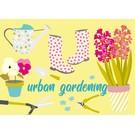 cc152 | crissXcross | Urban Gardening - postcard A6