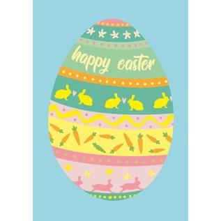 cc157 | crissXcross | Happy Easter - Postkarte A6