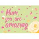 cc156 | crissXcross | Mum, You are amazing - Postkarte A6