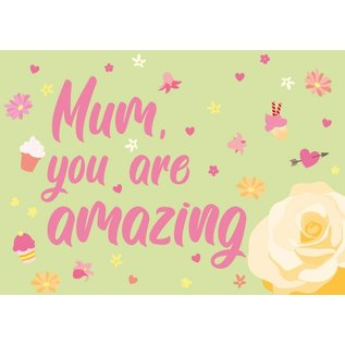 cc156 | crissXcross | Mum, You Are Amazing - postcard A6