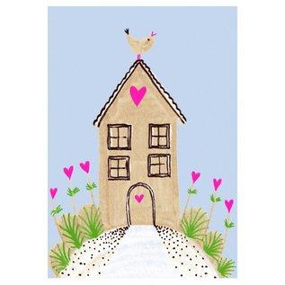 SG193   schönegrüsse   House - postcard A6