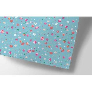 ha701   happiness   Little Flowers - Geschenkpapier Bogen 50 x 70 cm