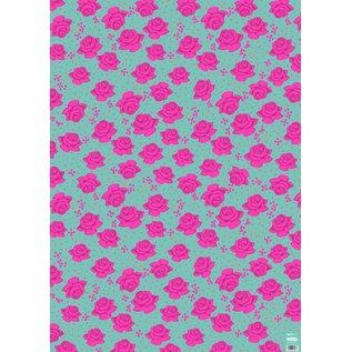 ha702 | happiness | Roses - Geschenkpapier Bogen 50 x 70 cm