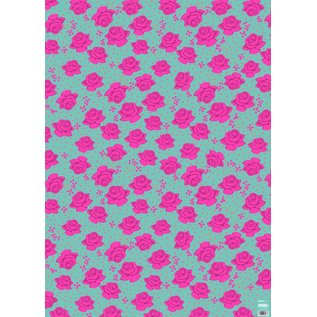 ha702 | happiness | Roses - wrapping paper Bogen 50 x 70 cm