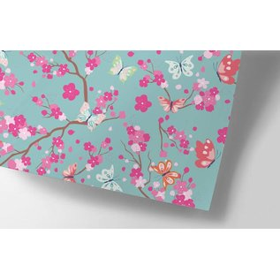 ha703   happiness   Cherry Blossoms - Geschenkpapier Bogen 50 x 70 cm