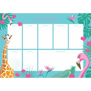 ix802 | crossover | Tropical - weekly Planner A4
