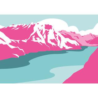 bv004 | bon voyage | Swiss Lake - Postkarte A6