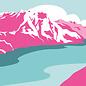 bv004 | bon voyage | Swiss Lake - postcard A6