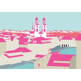 bv005 | bon voyage | Munster Zurich, Switzerland - postcard A6