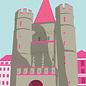 bv009 | bon voyage | Spalentor Basel, Switzerland - postcard A6