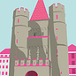 bv009 | bon voyage | Spalentor Basel, Switzerland - Postkarte A6