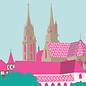 bv010 | bon voyage | Münster Basel, Switzerland - Postkarte A6
