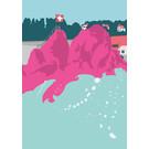 bv012 | bon voyage | Rheinfall - Rhine Falls, Switzerland - postcard A6