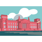 bv013 | bon voyage | Reichstag, Berlin - postcard A6