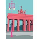 Postcard - Brandenburg Gate, Berlin
