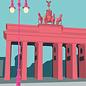 bv014 | bon voyage | Brandenburg Gate, Berlin - postcard A6