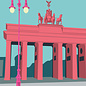 bv014 | Postkarte - Brandenburger Tor, Berlin