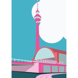 bv015   bon voyage   Alexanderplatz, Berlin - postcard A6
