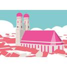 bv017 | bon voyage | Marienkirche, München - Postkarte A6