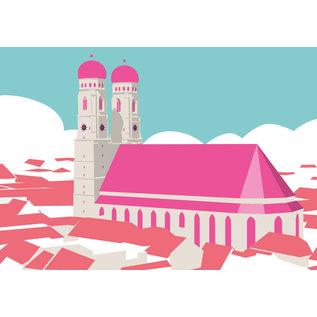 bv017 | bon voyage | Frauenkirche, Munich - postcard A6