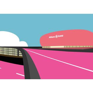bv018 | bon voyage | Allianz Arena, Munich - football stadium - postcard A6