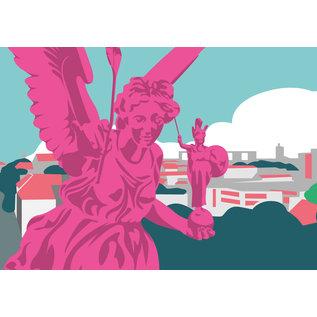 bv019 | bon voyage | Angel of Peace, Munich - postcard A6