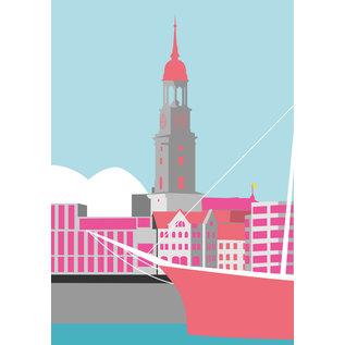 bv020 | bon voyage | St. Michaelis, Hamburg - Postkarte A6
