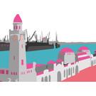 bv021 | bon voyage | St. Pauli Piers, Hamburg - postcard A6