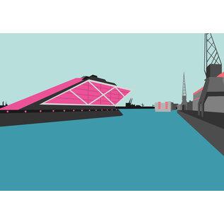 bv024 | bon voyage | Dockland, Hamburg - Postkarte A6
